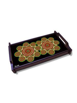 Kolorobia  WTMMA01 Alluring Warli Wooden Tray