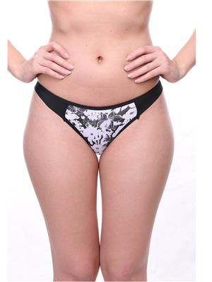 Feminin WW5870 G String Thong Black Women Panty