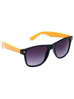 Allen Cate BlackYellowSide Wayfarer Sunglasses