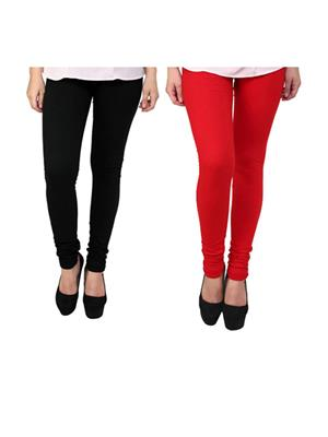 Wrab WR-101 Multicolored Women legging  Pack of 2