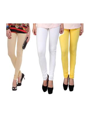 Wrab WR-102 Multicolored Women legging  Pack of 3