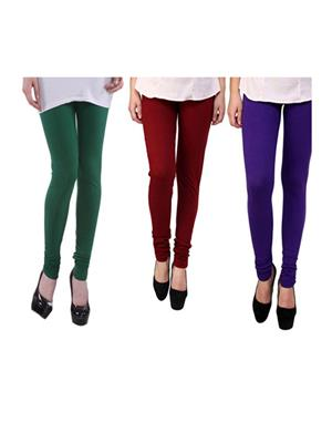 Wrab WR-106 Multicolored Women legging  Pack of 3