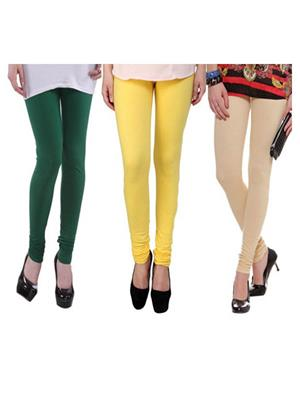 Wrab WR-136 Multicolored Women legging  Pack of 3