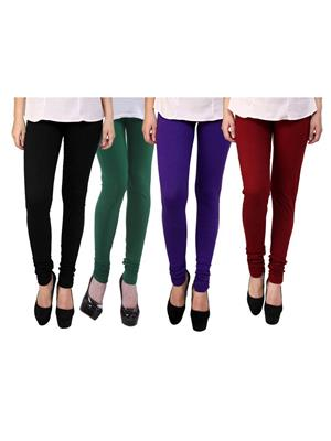 Wrab WR-156 Multicolored Women legging  Pack of 4