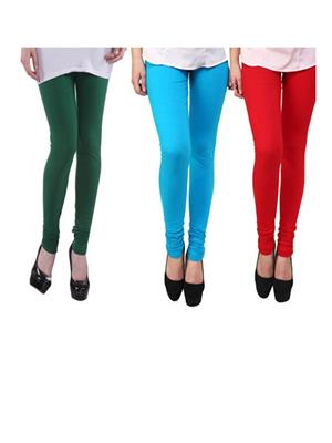 Wrab WR-187 Multicolored Women legging  Pack of 3