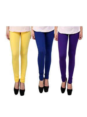 Wrab WR-190 Multicolored Women legging  Pack of 3