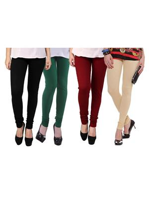 Wrab WR-195 Multicolored Women legging  Pack of 4