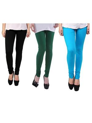 Wrab WR-214 Multicolored Women legging  Pack of 3