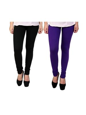 Wrab WR-59 Multicolored Women legging  Pack of 2