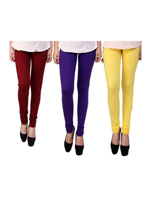 Wrab WR-61 Multicolored Women legging  Pack of 3