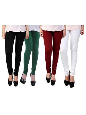 Wrab WR-62 Multicolored Women legging  Pack of 4