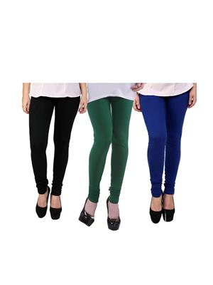 Wrab WR-66 Multicolored Women legging  Pack of 3