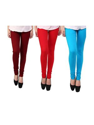 Wrab WR-99 Multicolored Women legging  Pack of 3
