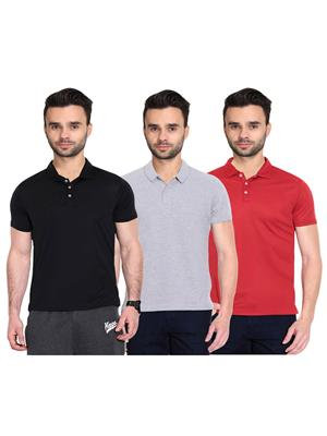 X-CROSS 1001 Multicolored Men T-Shirt Set Of 3