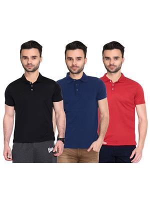 X-CROSS 1003 Multicolored Men T-Shirt Set Of 3