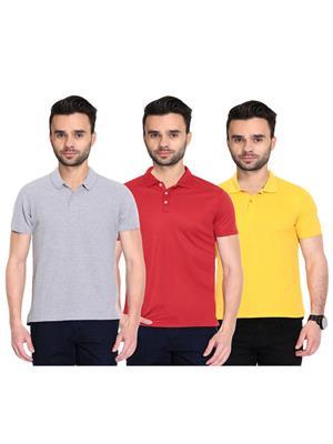 X-CROSS 1015 Multicolored Men T-Shirt Set Of 3