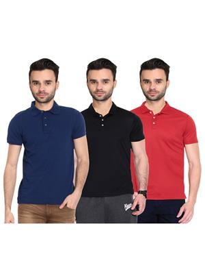 X-CROSS 1020 Multicolored Men T-Shirt Set Of 3