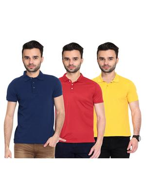 X-CROSS 1026 Multicolored Men T-Shirt Set Of 3