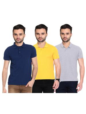 X-CROSS 1028 Multicolored Men T-Shirt Set Of 3