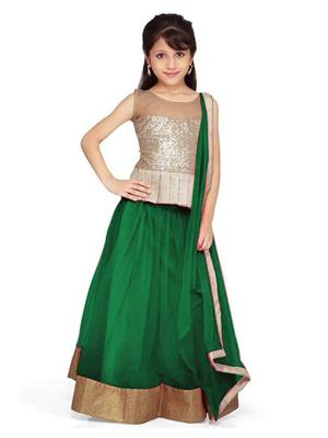 Xomantic Fashion Xfgn Green Girl Lehenga Choli