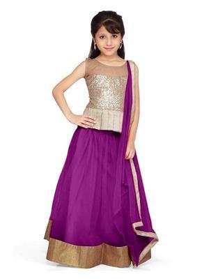 Xomantic Fashion Xfpr Purple Girl Lehenga Choli