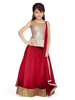Xomantic Fashion Xfrd Maroon Girl Lehenga Choli