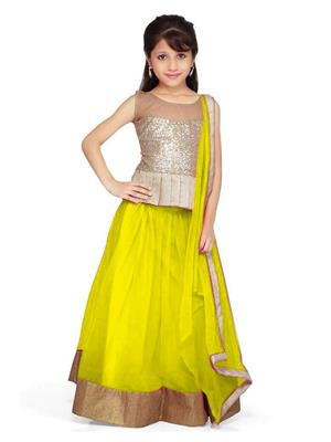 Xomantic Fashion Xfyw Yellow Girl Lehenga Choli