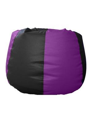 Pebbleyard XXXLCLA-Black n purple_C Classic Bean Bag Cover