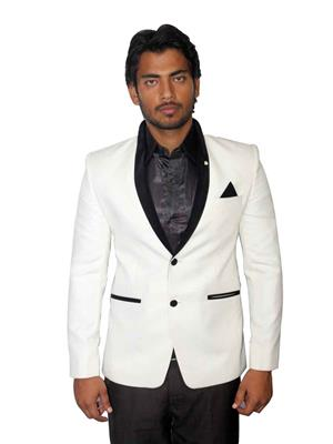 Young Fashion YF10 White Men Single Breasted Suit Fabric