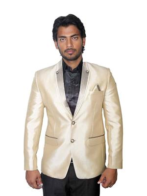 Young Fashion YF11 Cream Men Single Breasted Suit Fabric