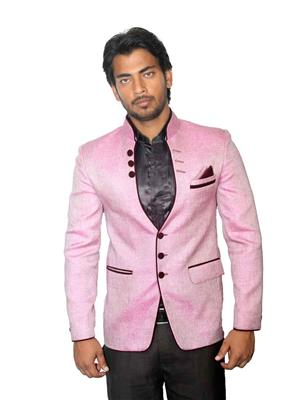Young Fashion YF12 Baby Pink Men Single Breasted Suit Fabric