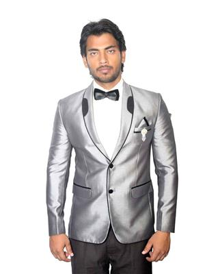 Young Fashion YF13 Grey Men Single Breasted Suit Fabric