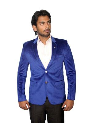 Young Fashion YF7 Blue Men Single Breasted Suit Fabric
