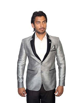 Young Fashion YF9 Grey Men Single Breasted Suit Fabric