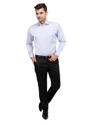 Zodiac ZDC18 Blue Men Formal Shirt