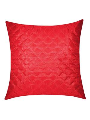 ZIKRAK EXIM ZE5252 SQUARE QUILTING CUSHION COVER  RED 40 X 40 CMS _1 PC_