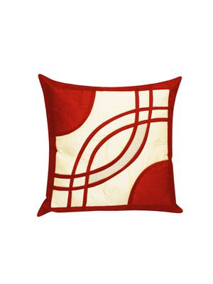 ZIKRAK EXIM ZE5312 SPIRAL DESIGN CUSHION COVERS RUST AND BEIGE 1 PC _40X40 CMS _
