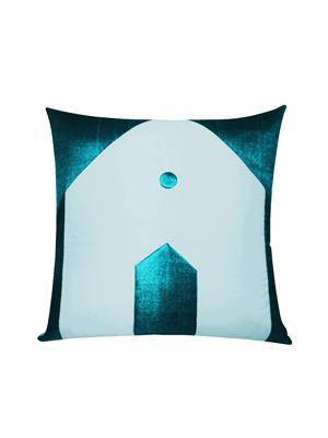 ZIKRAK EXIM ZE5432 Hut Design Blue N Sky Blue Cushion Covers  40X40 Cms _Pack Of 1_