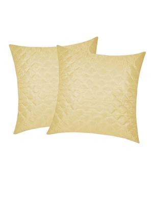 ZIKRAK EXIM ZEBC123 Box Quilted Floors cushion Cover Beige 50X50 Cms-Pack-2