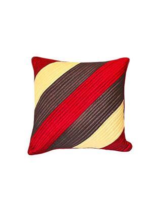 ZIKRAK EXIM ZEBC162 Straight Quilting Floors Cushion Cover Red Comb 50X50 Cms