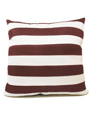 ZIKRAK EXIM ZEBC234 Straight Stripe Floors Cushion Cover Brown N White 50X50 Cms