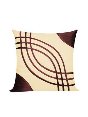 ZIKRAK EXIM ZEBC287 Big Eye Design Floors Cushion Cover Brown N Beige 50X50 Cms