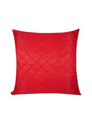 ZIKRAK EXIM ZEBC347 Cross Pintuck Floors Cushion Cover Red 50X50 Cms