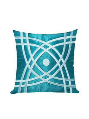 ZIKRAK EXIM ZEBC357 Abtractive Design Floors Cushion Cover Blue N Sky Blue 50X50 Cms