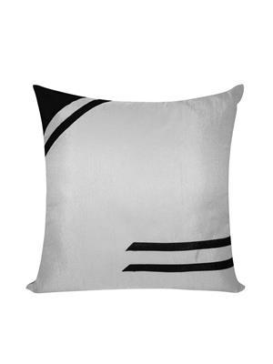 ZIKRAK EXIM ZEBC405 Classical Floors Cushion Cover Black N Silver 50X50 Cms