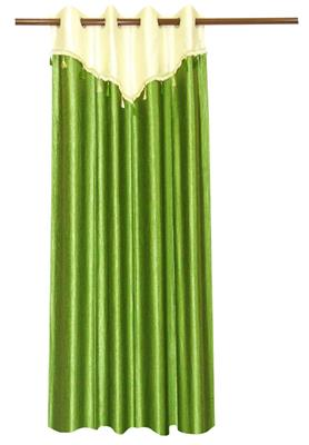 ZIKRAK EXIM ZECRW165 IVORY AND GREEN WINDOW CURTAIN WITH FLAP 1 PC (48 X 60 INCHES)