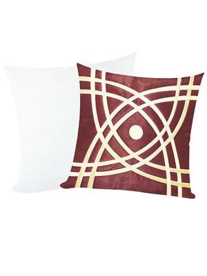 ZIKRAK EXIM ZEFL5895 Abtractive Design Cushion With Filler Brown N Beige 40 X 40 cms (2 pcs set)