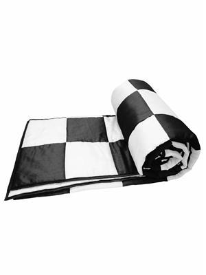 ZIKRAK EXIM ZEQLTQUEN100 Black and White Patch Work Queen Quilt 230 x 250 cms