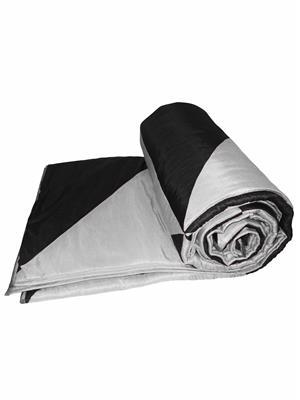 ZIKRAK EXIM ZEQLTQUEN108 Black and Silver Gig Design Queen Quilt  230 x 250 cms