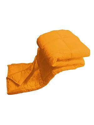 ZIKRAK EXIM ZEQUILT154 Strylish Plain Orange Quilt 150 x 225 cms